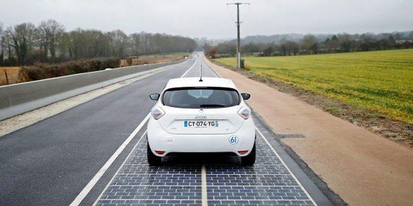 Во Франции дорогу вымостили солнечными батареями Франция, дорога, наука, будущее, текст
