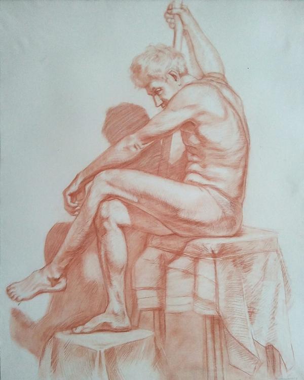 Рисунок обнаженного мужчины Рисунок, Обнаженка, Моё, Sokano, Творчество, Искусство