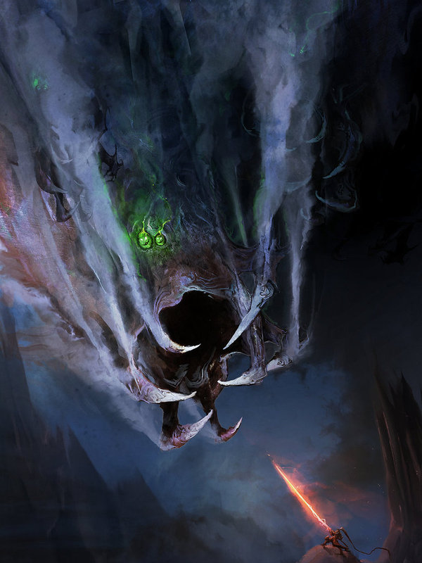 Laera and the Storm Leviathan Арт, Игры, Behemoth, Фэнтези, Монстр