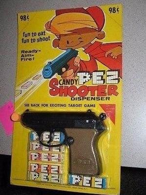 Я ведь правильно понимаю? Для того чтобы съесть конфету нужно вставить пистолет в рот и нажать на курок?