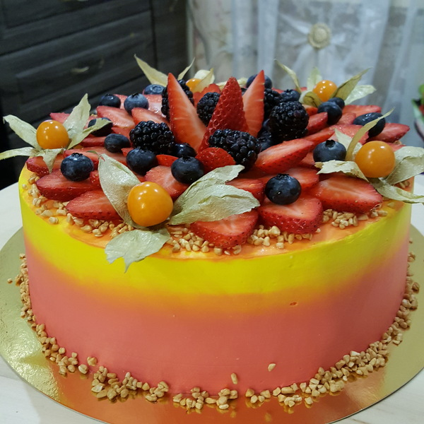 Наш новогодний торт. Всех поздравляем с Новым годом!!!