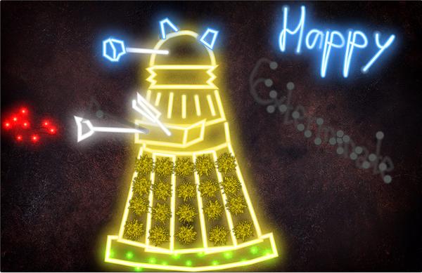 Тут все гирляндами балуются... Гирлянда, Dalek, Доктор кто