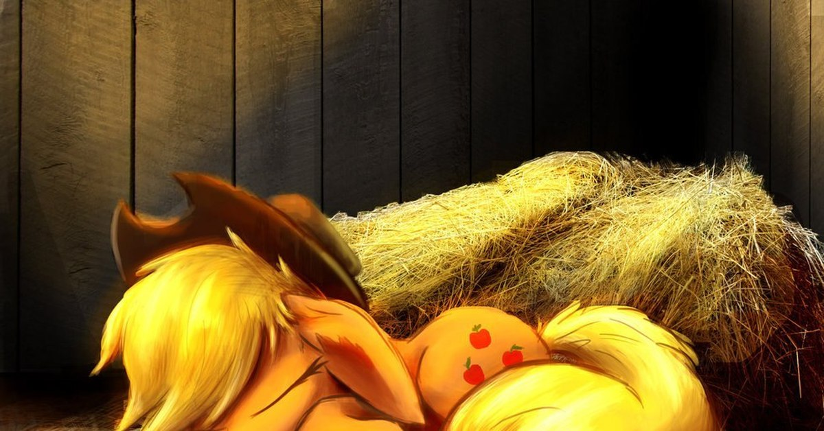 Картинки эпплджек пони спящей