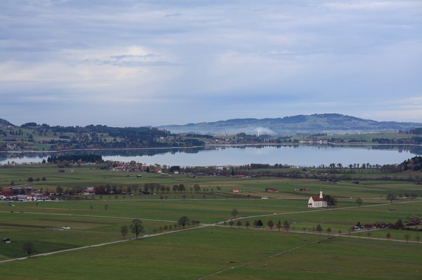 Замок нойшванштайн Германия, Бавария, замок, Природа, горы, длиннопост, Нойшванштайн