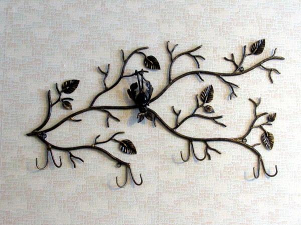 Кованая вешалка Летучая Мышь вешалка, вешалка в прихожую, летучая мышь, ковка, осенняя ветка, осень, Макаров и сыновья, длиннопост