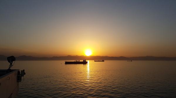 На рейде порта Фуджейра Красное море, Работа, Пароход, Фотография