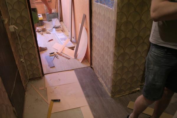 Сухая стяжка пола за один день. Замена полов в квартире полы, ремонт, ламинат, паркетная доска, стройматериалы, сухая стяжка, квартирный вопрос, ремонт квартир, длиннопост