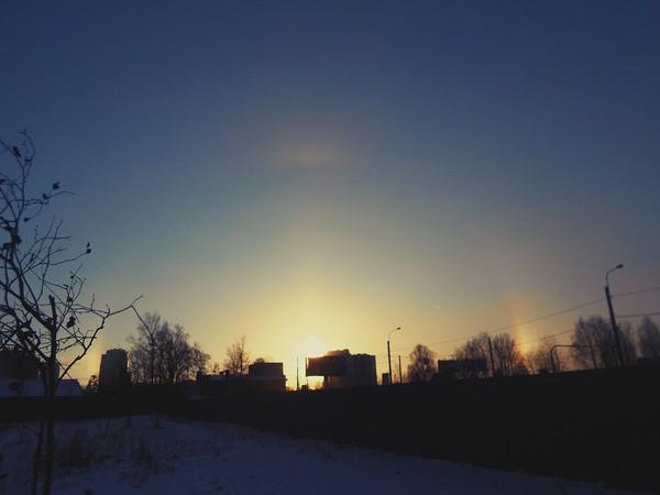 Солнечное гало в Санкт-Петербурге