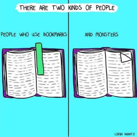 Есть два вида людей. Два типа, Книги, Закладки, 9gag