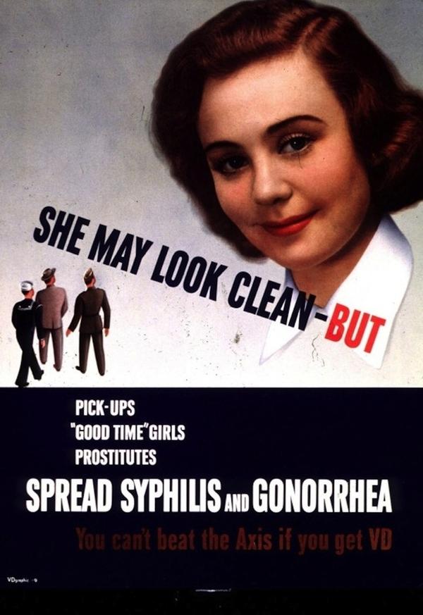 15 странных агитационных плакатов США Второй мировой о коварных женщинах плакат, США, вторая мировая война, пропаганда, венерические заболевания, женщина, длиннопост