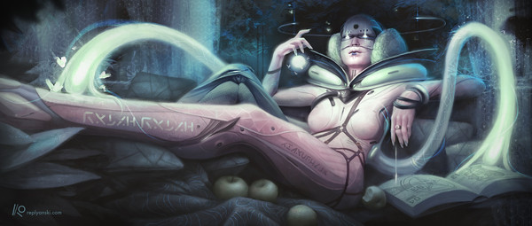 Cyberpunk Киберпанк, Антиутопия, Длиннопост, Девушки