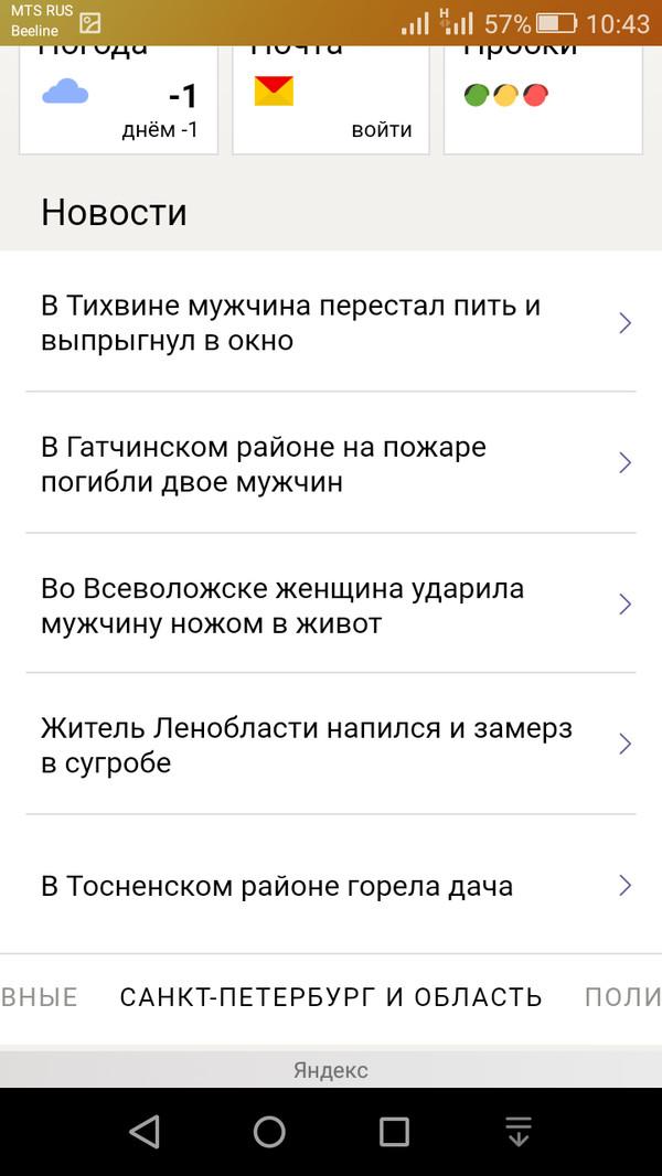 «Позитив» в Ленинградской области.
