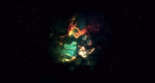 Крабовидная туманность Космос, Туманность, Sn 1054, Гифка