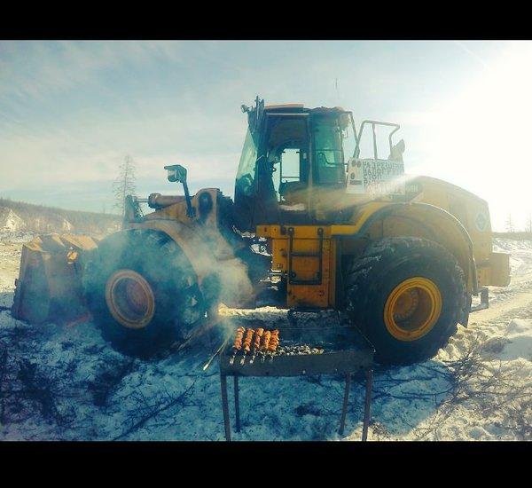 Моё рабочее место Республика Саха, Якутия, крайний север, Caterpillar