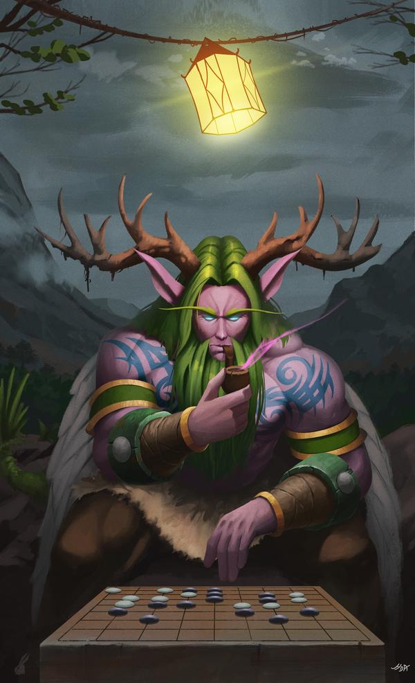 На заказ! Малфурион Арт, Картинки, Wow, Warcraft, Игры
