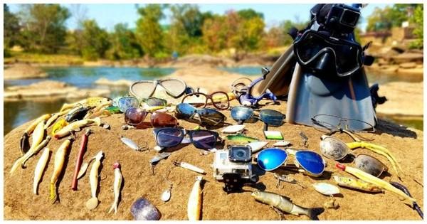 Вот что можно найти на дне озера видео, дайвер, находка, подводная съемка