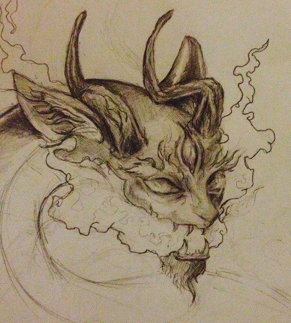 Внутренние демоны Демон, Дракон, Творчество, Эскиз, Карандаш, Sketchup, Рогатый, Inside of me