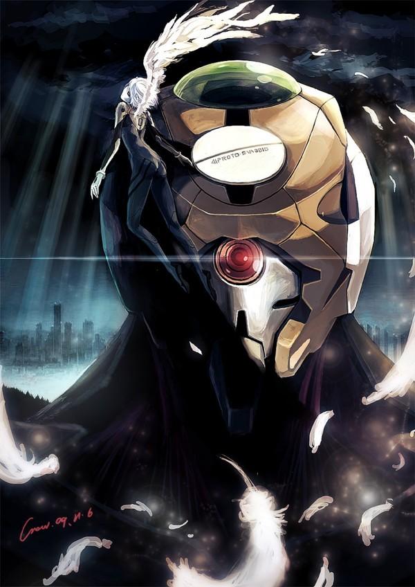 EVA Mark.09 аниме, Anime Art, Evangelion, Rei Ayanami, eva 00