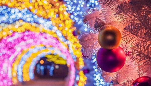 Кусочек ушедшего праздника. Новый Год, Москва, иллюминация, освещение