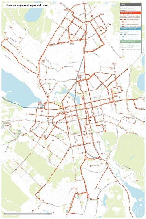 В мэрии Екатеринбурга решили, какие маршруты автобусов, трамваев и троллейбусов закроют в этом году Екатеринбург, Маршрут, Длиннопост