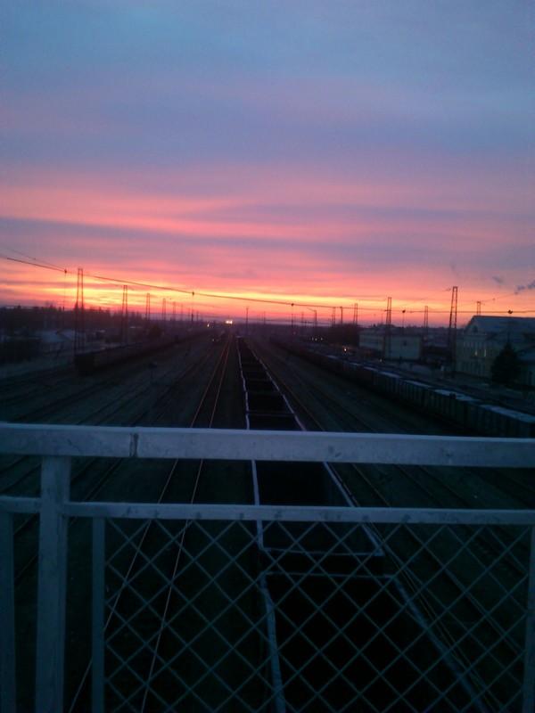 Рассвет, жд вокзал