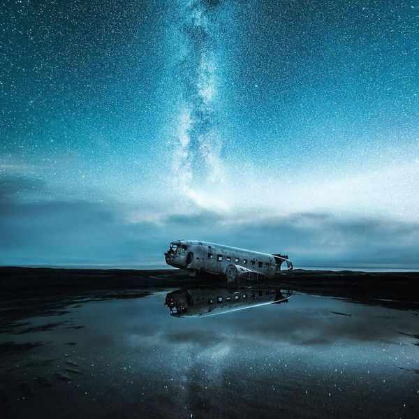 Обломки самолета на пляже в Исландии Исландия, Крушение, самолет, обломки, длиннопост