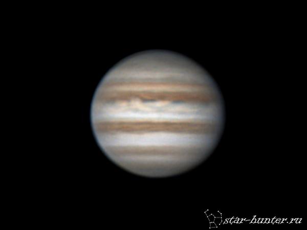 Юпитер, 23 января 2017 года, 02:50. Юпитер, астрофото, планета, астрономия, космос, StarHunter, КраснодарБалкон, видео, длиннопост