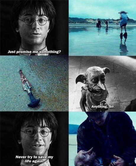 Добби свободен.. 9gag, Не мое, Добби, Гарри Поттер, Чертовы ниндзя режут лук