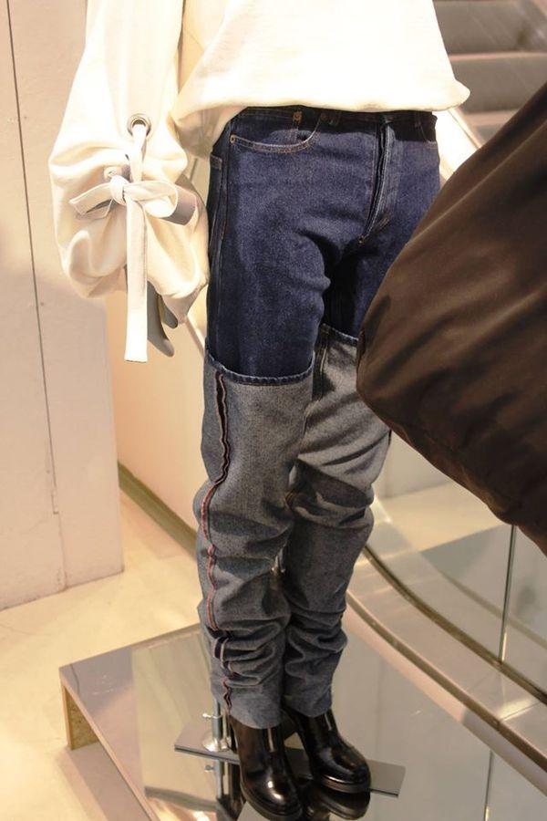 Как сделать подвороты на джинсах девушке если они широкие 843