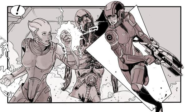 Mass Effect Art Mass effect, Femshep, Shepard, Арт, N7, Лиара, Длиннопост