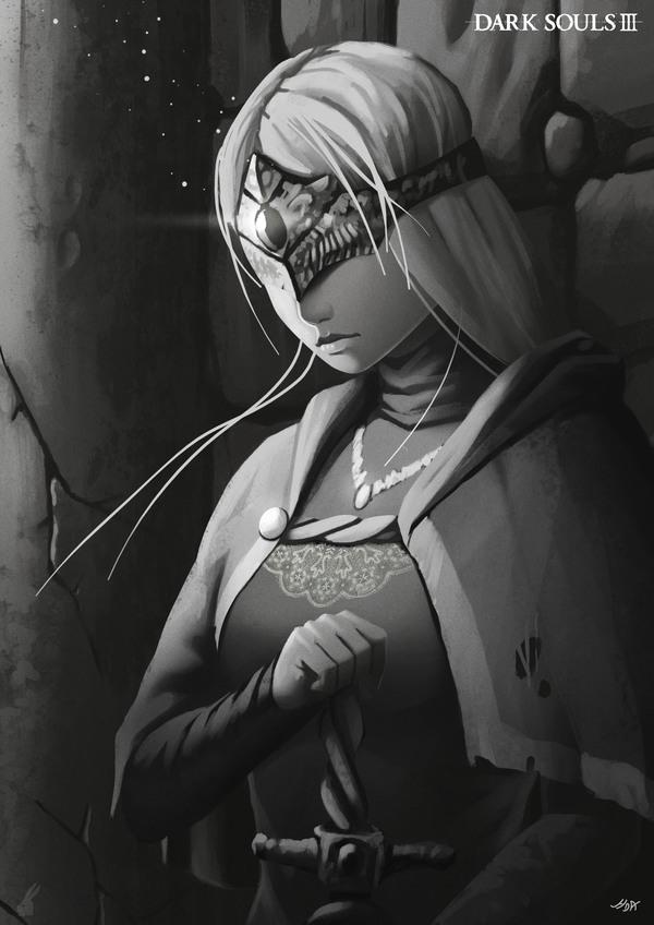 Хранительница огня Арт, Картинки, Dark souls, Dark Souls 3, Игры