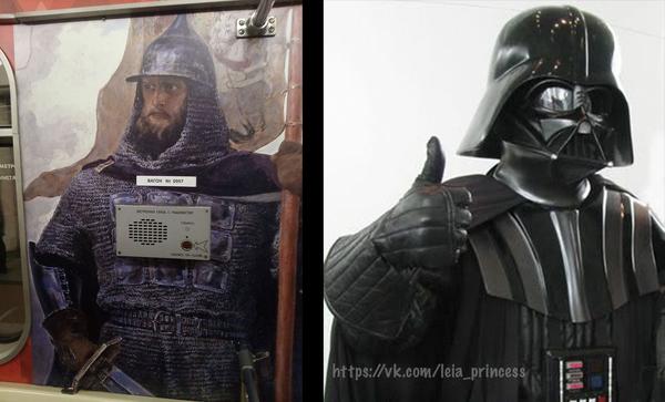Князь Александр Невский и кнопка вызова машиниста в метро