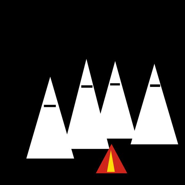 """Шедевры минимализма: """"Члены Ку-клукс-клана проводят обряд в ночном лесу""""""""."""
