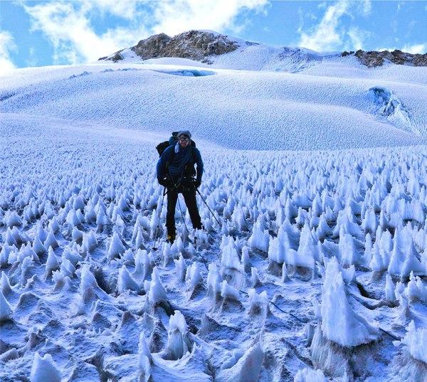 Необычное ледяное поле