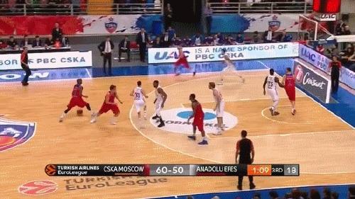 Идеальная позиционная атака ЦСКА Баскетбол, ПБК ЦСКА, Евролига, гифка