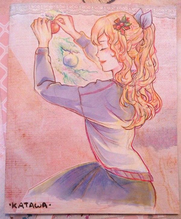 Открытки от Svveetberry Рисунок, Открытка, Anime art, Shiina Mikado, Hanako Ikezawa, Lilly Satou, Katawa Shoujo, Визуальная новелла, Длиннопост