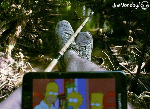 Обожрали наживку. Позырю Симпсонов! фотография, рыбалка, Природа, крипота, Зомби, симпсоны, моё, Joe Vondayl