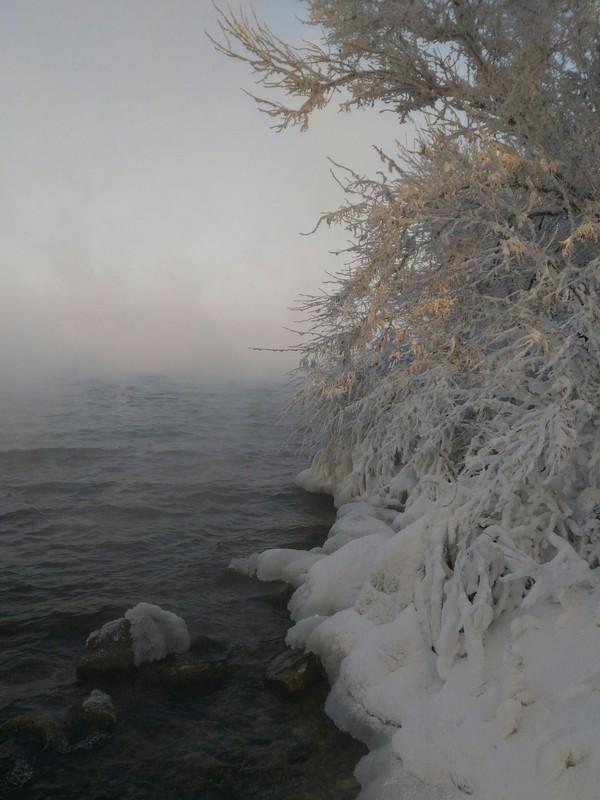 Охладитель БАЭС,за бортом -25 АЭС, Зима, Балаково, Красота, Природа, Охладитель, Длиннопост
