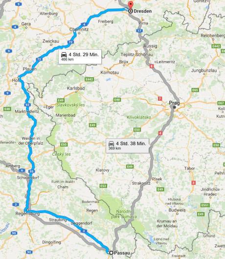 Немецкий автобан! На 100 км длиннее, но на 10 минут быстрее.