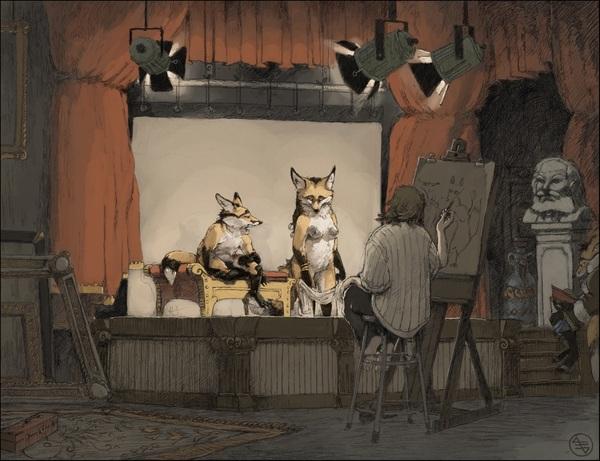 In The Studio Фурри, Лиса, Seyorrol, Furotica