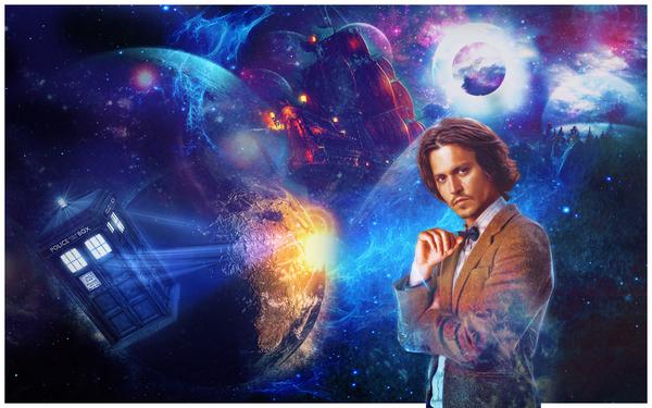 Капитан Вселенной или повелитель Чёрной жемчужины Доктор Кто, Тардис, Джонни Депп, Космос, Photoshop
