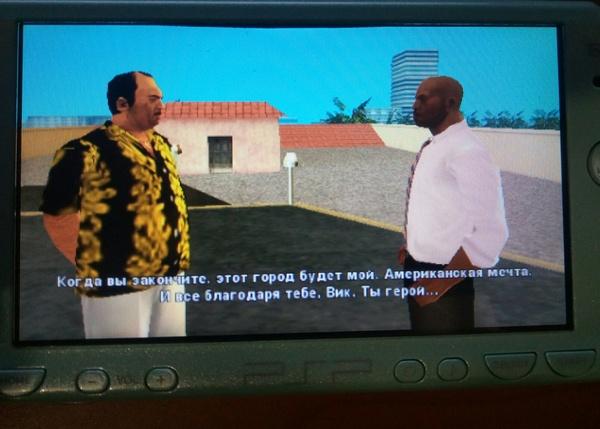 Прелести любительской русификации, или очень честный Вик Gta vice city, Русификация, Google translate, Игры, Sony PSP