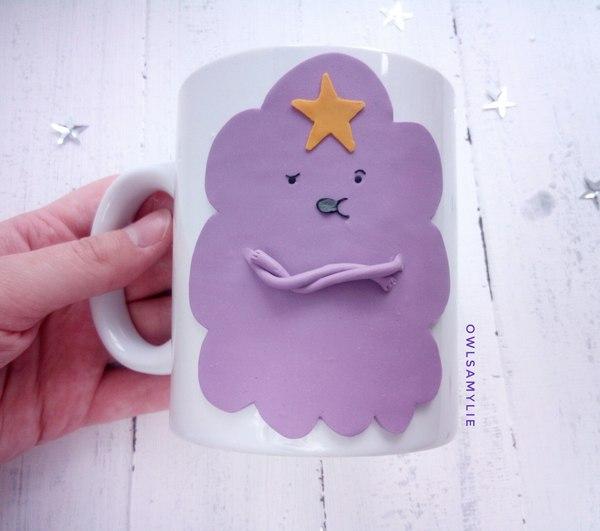 Пупырка :) Adventure time, Полимерная глина, Кружка, Чаепитие, Принцесса пупырка, Ручная работа, Handmade