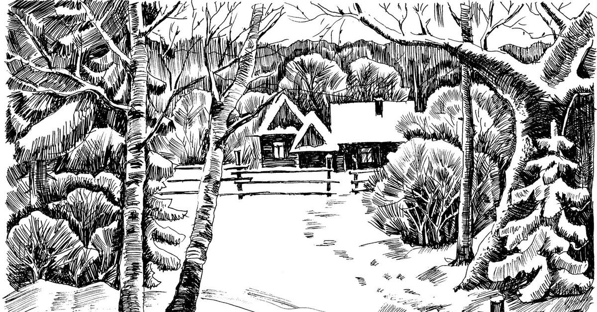 воровства картинки про зиму поэтапно все