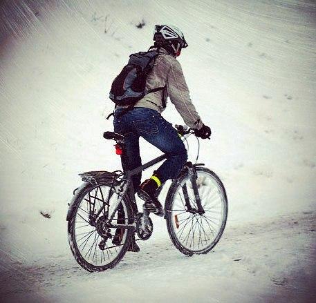 Велосипедист Велосипед, Зима, Пробка на дороге, Стихи, Длиннопост