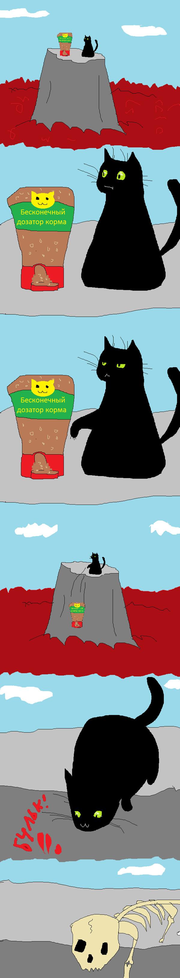 Кошачьи привычки Кот, Paint master, Смерть, Длиннопост, Комиксы