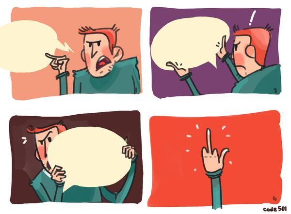 Когда текст это не твоё, да и рисовать тоже... Комиксы, Code501
