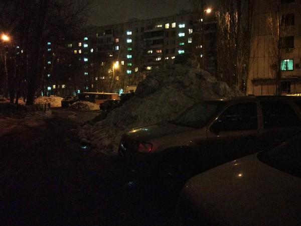 Сугробищееее Снег, Коммунальщики, Уборка снега, Само растает