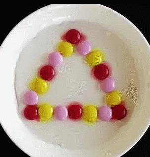 Skittles в тарелке с водой Конфеты, Skittles, Узоры, Интересное, Цвет, Гифка