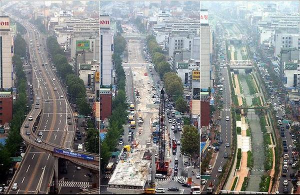 Как река превратилась в шоссе и обратно. Сеул, Река, достопримечательности, Южная Корея, длиннопост